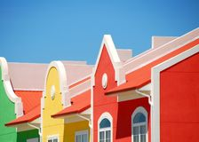 Colorful Building Front. Row of brightly colored townhomes in coastal community royalty free stock photos