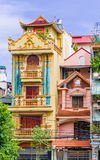 Colorful building in Hanoi - Vietnam. View on colorful building in Hanoi - Vietnam stock photos