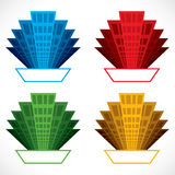 Colorful building icon Stock Photos