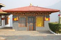 Colorful Building in Buddhist Nunnery, Bhutan. Colorful building located in a Buddhist nunnery in rural Bhutan stock images