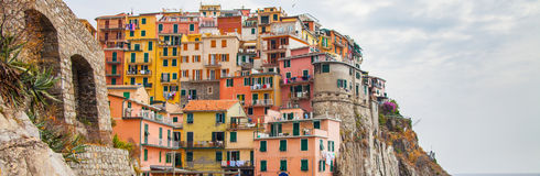 Colorful Building, Manarola, Cinque Terre, Italy Royalty Free Stock Photo