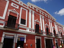 Colorful Building in Merida Yucatan Royalty Free Stock Photography