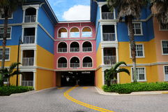 Colorful building. Multicolored building complex in the city of Weston in South Florida royalty free stock photo