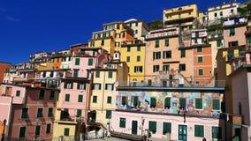 The Colorful Coast in Cinque Terre, Corniglia, Italy stock images
