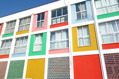 Colorful building. Offices in Komotini, Greece stock images