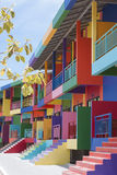 Colorful building. Of resort on Kohlan, Pattaya, Thailand royalty free stock photos