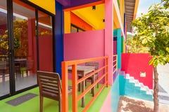 Colorful building. Of resort on Kohlan, Pattaya, Thailand stock photo