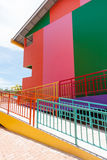 Colorful building. Of resort on Kohlan, Pattaya, Thailand stock images