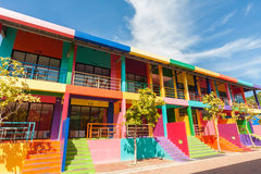 Colorful building. Of resort on Kohlan, Pattaya, Thailand royalty free stock photography