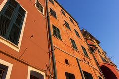 Colorful building in Riomaggiore in Italy Stock Photography
