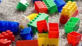 Colorful building set for children stock video