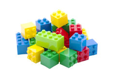 Colorful building toy, white background. Royalty Free Stock Photography
