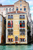 Colorful building in Venice. A view of a typical colorful residential building in Venice, Italy stock photos