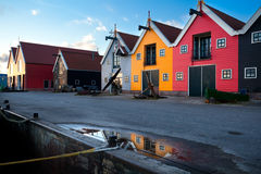 Colorful building in Zoutkamp, Groningen Stock Images