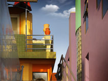 Colorful buildings Royalty Free Stock Photos