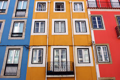 Colorful buildings. Detail of some colorful buildings royalty free stock image