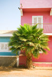Colorful buildings in Africa. Royalty Free Stock Photography