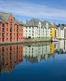 Colorful Buildings, Alesund, Norway Stock Images