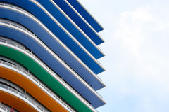 Colorful buildings Stock Photos