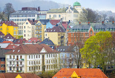 Colorful Buildings, Bergen Norway Royalty Free Stock Photography