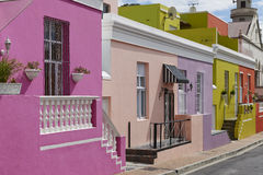 Colorful buildings in Bo-Kaap Stock Photo