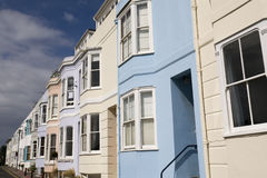 Colorful Buildings in Brighton. Colorful victorian buildings in Brighton Stock Photo