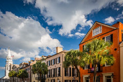 Colorful buildings on Broad Street in Charleston, South Carolina Stock Image