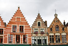 Colorful buildings in Bruges Royalty Free Stock Photos