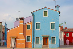 Colorful buildings of Burano island Stock Photography