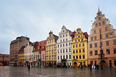 Colorful buildings in the city center Royalty Free Stock Image