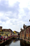 Colorful buildings in Colmar, France Royalty Free Stock Images