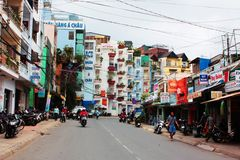 Colorful buildings at dalat, vietnam Royalty Free Stock Photo