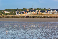 Colorful buildings in Deauville, France Royalty Free Stock Images