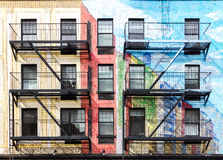 Colorful buildings in the East Village New York City Stock Photography