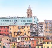 Colorful buildings facade Royalty Free Stock Photos