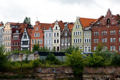 Colorful buildings in Gdansk, Poland. Royalty Free Stock Photos
