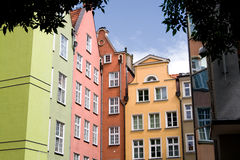Colorful buildings in Gdansk, Poland. Royalty Free Stock Photo