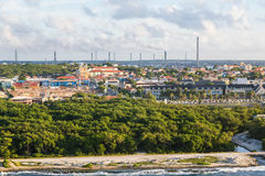 Colorful Buildings and Heavy Industry in Curacao Royalty Free Stock Photo