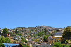 Colorful buildings on the hills of Valparaiso Royalty Free Stock Images