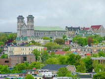 Colorful buildings and houses in St. John`s Royalty Free Stock Photography