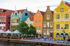 Free Colorful Buildings In Willemstad Downtown, Curacao, Netherlands Antilles,  A Small Caribbean Island - Travel Destination For Royalty Free Stock Photos - 144403398