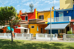 Colorful buildings in italian street Royalty Free Stock Image
