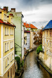 Colorful buildings at the Lesser Town (Little Quarter) in Prague Royalty Free Stock Image
