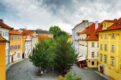 Colorful buildings at the Lesser Town (Little Quarter) in Prague Royalty Free Stock Photos