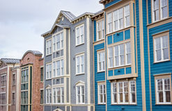 Colorful Buildings Line Up Royalty Free Stock Photo