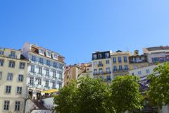 Colorful buildings of Lisbon Royalty Free Stock Photo