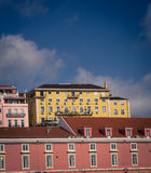 Colorful buildings in lisbon Stock Images