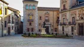Traditional Spanish architecture in Madrid, Spain stock photography