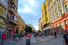Colorful buildings on main street Stock Photography