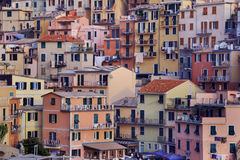 Colorful buildings of Manarola, Italy Royalty Free Stock Photos